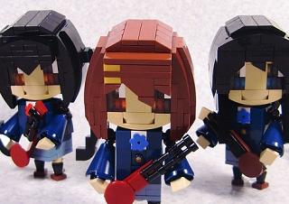 レゴで「けいおん!」の5人を作ってみた。