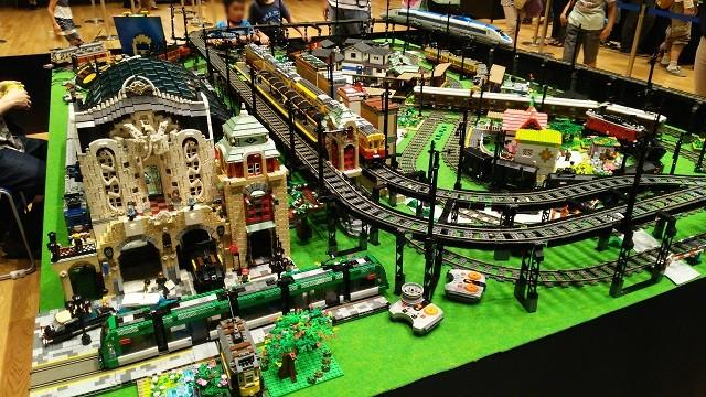 阪急梅田本店 鉄道模型フェスティバル2014 レゴトレイン走行展示