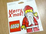 サンタ柄のレゴ袋
