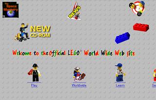 時代を感じさせる1997年のレゴホームページ