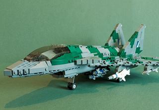 レゴブロックでできた戦闘機