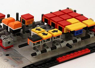 Microsoft Natural keyboardのキーセンサー部分を使ったレゴのキーボード