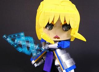 レゴでデフォルメFateのセイバー作ったよー