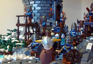 レゴで造られた「スカイリム」ジオラマ