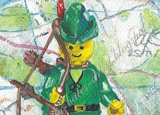 レゴミニフィグの油絵