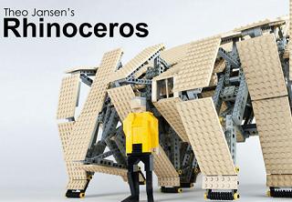 風を食べて生きる不思議な巨大アート「Rhinocero」のレゴキット化の投票受付中
