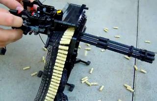 レゴでミニバルカン砲