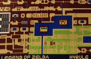 超大作!すべてレゴで作られた初代『ゼルダの伝説』のマップがすごい