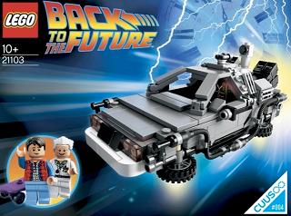 「バック・トゥ・ザ・フューチャー」の「デロリアン」がレゴになった